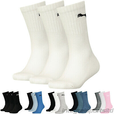 PUMA Sports Socks Boys Girls Kids (3 Pair Multipack) Cotton Crew Children UK 9-5