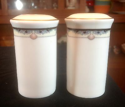 """Royal Doulton """"rhodes"""" Salt & Pepper Shakers Made In England H5099"""