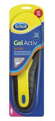 SCHOLL coppia Solette donna GEL ACTIVE WORK sottopiede Pedicure