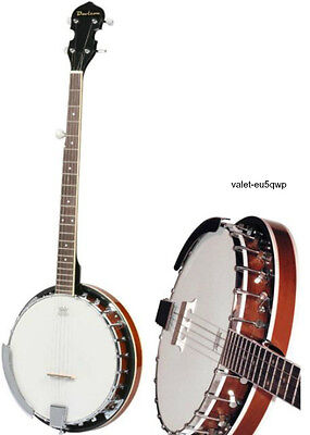 5 String Banjo 24 Bracket Closed Solid Back Geared 5th Tuner Full Scale Jameson