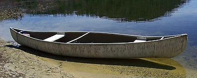Vintage Sears 15' Used & Patched Fiberglass Canoe Pick Up Only In Bradford, N.H.