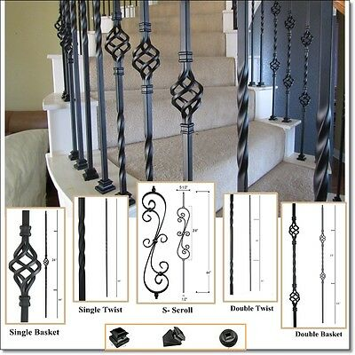 High quality powder coated wrought iron balusters, Iron stair parts