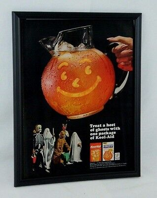 1964 Cool Aid Man Cave framed vintage photo Paper Ad Halloween