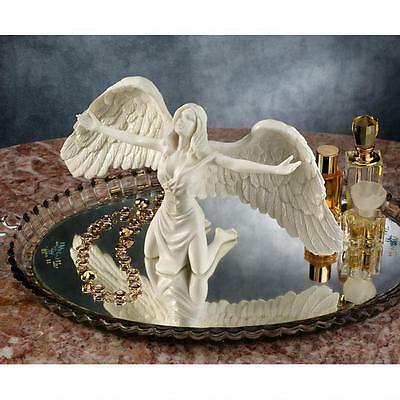 Bonded Marble Angel Statue Pray for Peace Tabletop Home Decor Spiritual Worship