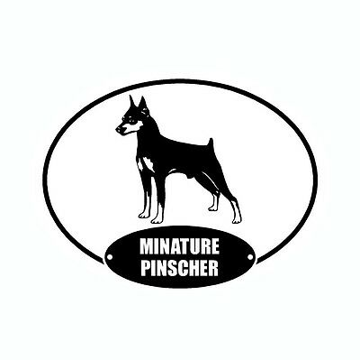 Miniature Pinscher Min Pin Euro Vinyl Dog Car Decal Sticker