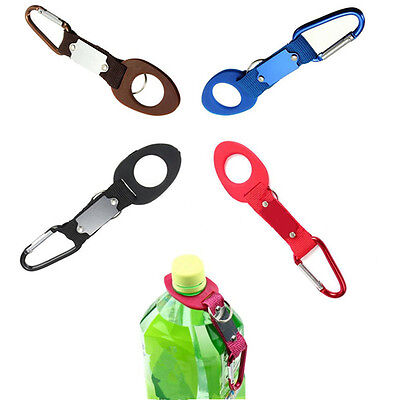 Hiking Camping Travel Buckle Clip Hot Water Bottle Holder Outdoor Carabiner