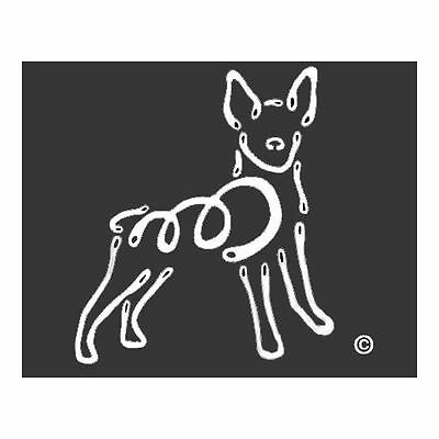Rat Terrier Dog K-Lines Dog Car Window Tattoo Decal Sticker