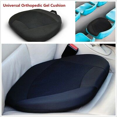 Porable Universal Car Gel Seat Cushion for Car Office Seats  Kitchen Chair Black