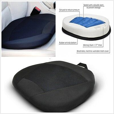 Orthopedic Gel Seat Cushion Pillow for Car Driver Seat or Office Chair Stadium