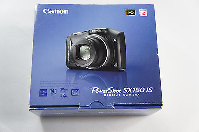 Canon PowerShot SX150 IS 14.1 MP Digital Camera Black NEW, Free 3 Day Shipping