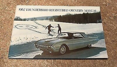 Nos 1962 Ford Thunderbird Owners Manual Original Unused Not Reprint