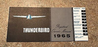Nos 1965 Ford Thunderbird Owners Manual Original Unused Not Reprint