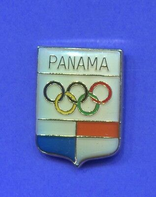 Olympic Panama Noc Pin Vintage Enamel Pin 1980's National Olympic Committee Pin