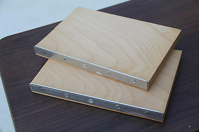 Used Metal Edged Press Book Boards for Bookbinding Pressboards Binding Repair