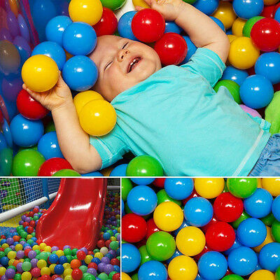 100x MultiColor Safe Soft Play Balls Kids Baby Toy for Ball Pit Swimming Pool GC