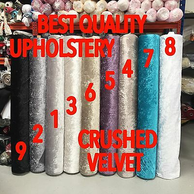 CRUSHED VELVET Bling Ice Upholstery Best Quality Fabric Material Sofa Cushions