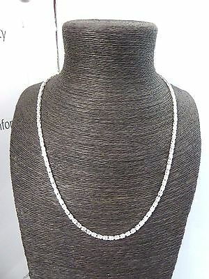 """New Solid Sterling Silver.925 Square Byzantine 23 3/4"""" Chain - 21 grams"""