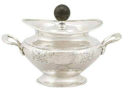 Antique Russian Silver Sugar Bowl and Cover - 1840s