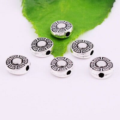 Tibetan Silver Metal Double Sided Spacer Beads 9x3.5mm Jewelry Finding Wholesale