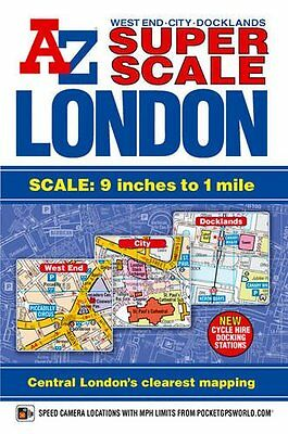 Super Scale London Street Atlas A-Z (London Street Atlases) New Paperback Book G