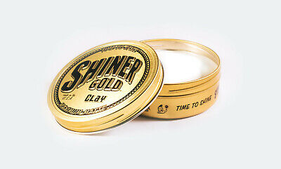 SHINER GOLD MAXIMUM MATTE CLAY Pomade 4OZ greaser Made in USA