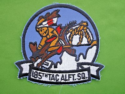 Military Shoulder Patch USAF US Air Force 185th Tactical Airlift Squadron