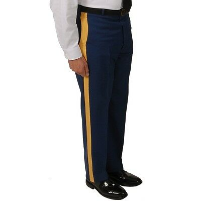 "NWT US Army Men's ASU ""C"" Dress Blues Service Uniform Braided Trousers Pants 32R"