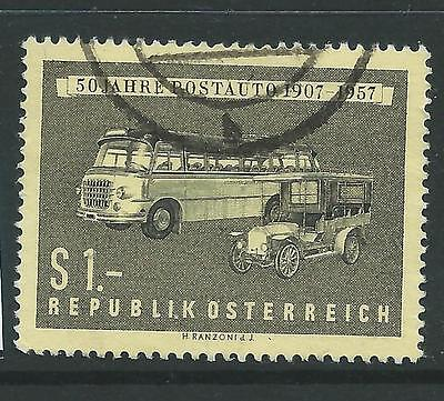 AUSTRIA SG1291 1957 50th ANNIV OF POSTAL COACH SERVICE FINE USED