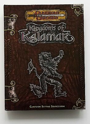 ⚝ Nuovo Eng ⚝ Kingdoms Of Kalamar ⚝ 3.5 D&d Dungeons And & Dragons 3.0 Manuale ★