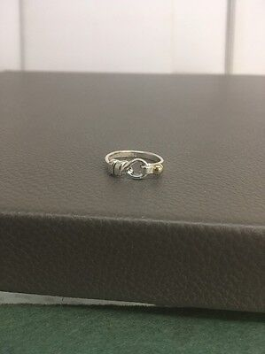 Tiffany & Company Sterling/18k Yellow Gold Knot Ring Size 7.5