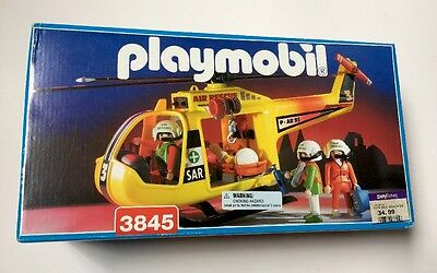 Playmobil 3845 !!! Brand New In Box Never Opened! 1995 Helicopter Rescue Look!!!