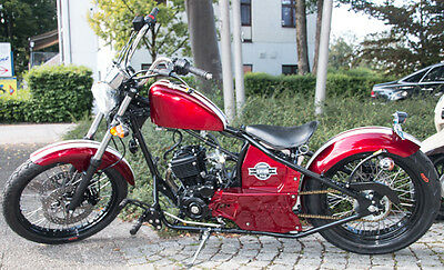 Johnny Pag Ventura 125ccm Chopper Burgundy-Rot Motorrad Custom Bike