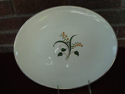 "Vintage  Edwin Knowles China Forsythia Yellow Flower 12.5"" Oval Serving Platter"