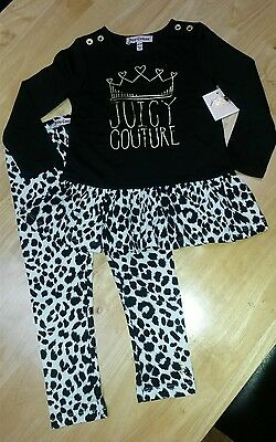 Juicy Couture  Designer Baby/girl Set Top And Leggings New With Tags 12-18 Month