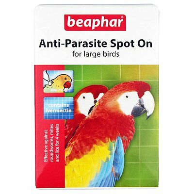 Beaphar Anti Parasite Spot on Large Birds Cage Parrot Lice Mites Aviary