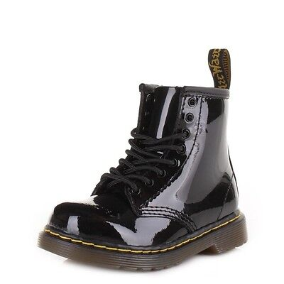 DR. MARTENS BROOKLEE 15373003 Patent Black Baby Toddler Shoes ... 8eb84a6a249