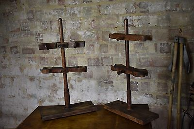 Vintage lab clamp props display antique wooden quirky antiques 2 available