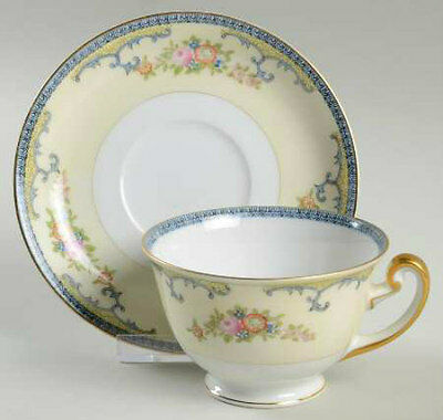 NS China NSJ6 Pattern Cup & Saucer Set - Made in Japan - Nice Antique Condition!