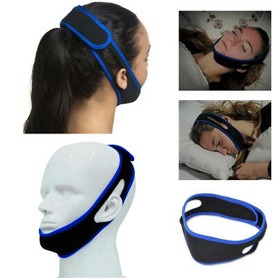 Anti Snore New Headband Belt Chin Strap Aids Sleep apnea Snoring Cpap Natural
