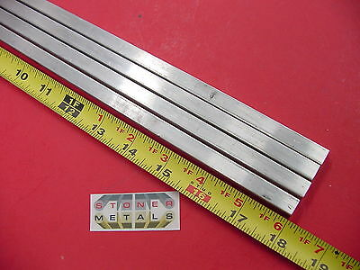 "4 Pieces 3/8"" X 3/8"" ALUMINUM SQUARE 6061 T6511 FLAT BAR 18"" long Mill Stock"