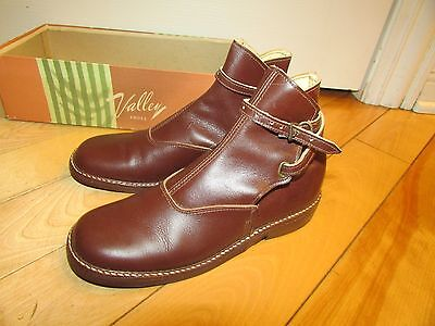 Vintage Womens Valley Shoes Riding ? Brown Boots with box 6 AA Windsor 1940's ?