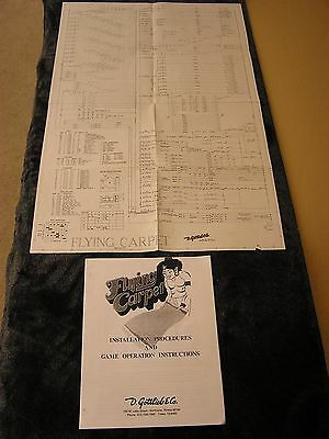 Gottlieb Flying Carpet Schematic and Game Operating Instructions