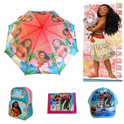 Kids Girls Boys School Bag Backpack Towel Umbrella Wallet Xmas Gift Disney Moana