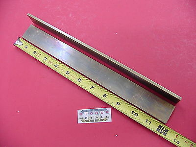 "2 Pieces 3/16""x 1-1/4"" C360 BRASS FLAT BAR 12"" long Solid Mill Stock H02 .187"""