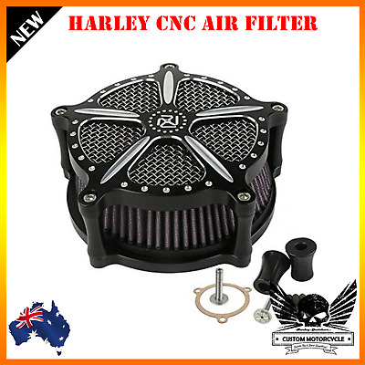 Black CNC Air Cleaner Intake Filter Harley Sportster dyna touring fatboy softail