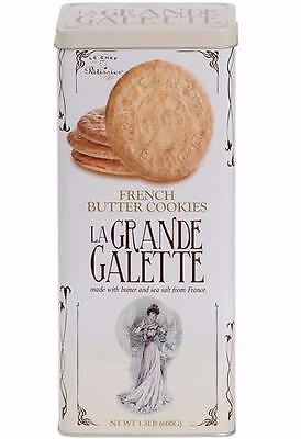 La Grande Galette French Butter Cookies Tin 1.3 Lb. (600 g)