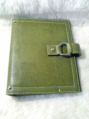 Franklin Covey 365 Olive Green Compact 6 Ring Planner Binder Organizer