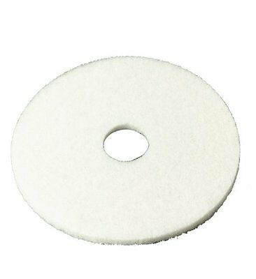 "Brand New 3M White Super Polish Pad 4100, 13"" Floor Pad, Machine Use (Case of 5)"