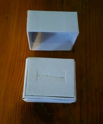Lot of 80 white ring boxes