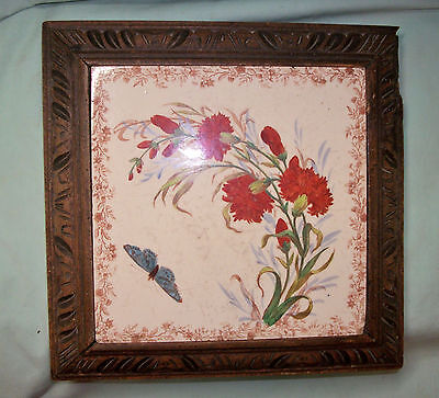 Antique Qualite Excelsior 3 Airs SWISS MOVEMENT Framed Art Tile MUSIC BOX